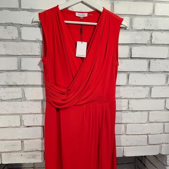 Calvin Klein Dresses & Skirts - NWT Calvin Klein red sleeveless dress